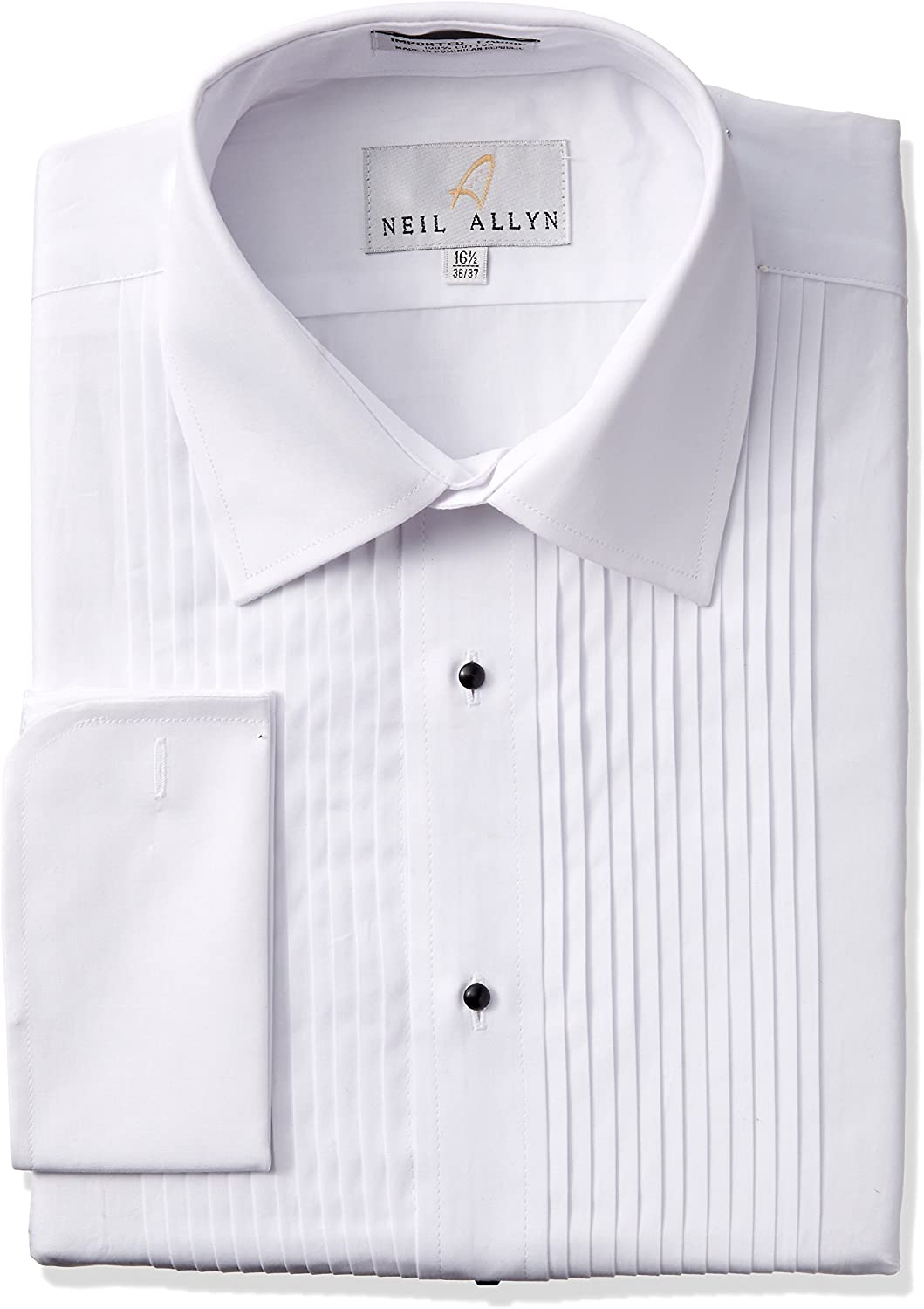 100/% Cotton Wing Collar with French Cuffs Tuxedo Shirt By Neil Allyn 18-36//37