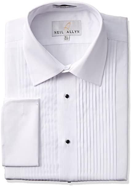 retro great look elegant and graceful Neil Allyn Tuxedo Shirt 100% Cotton with Laydown Collar and French Cuffs