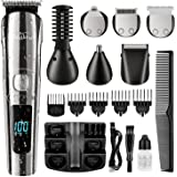 Brightup Beard Trimmer, Cordless Hair Clippers Hair Trimmer for Men, Waterproof Body Mustache Nose Ear Facial Cutting Groomer