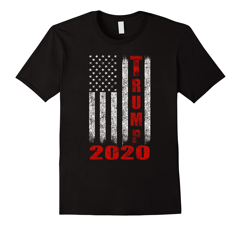 American Flag Vintage Design Trump 2020 T-shirt-fa
