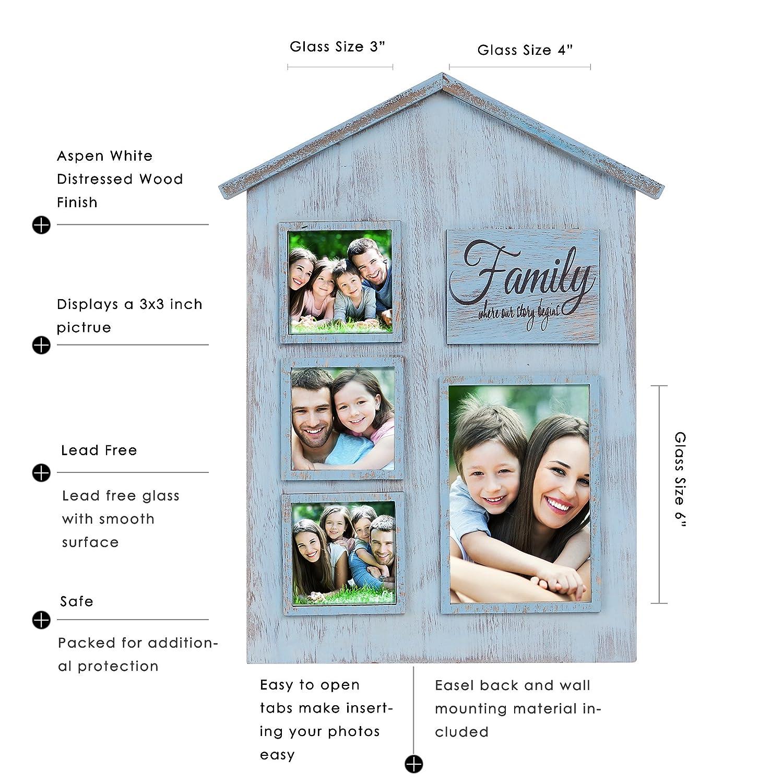 Valery Madelyn Frühling Holz Bilderrahmen Familie Versammlung Shabby ...