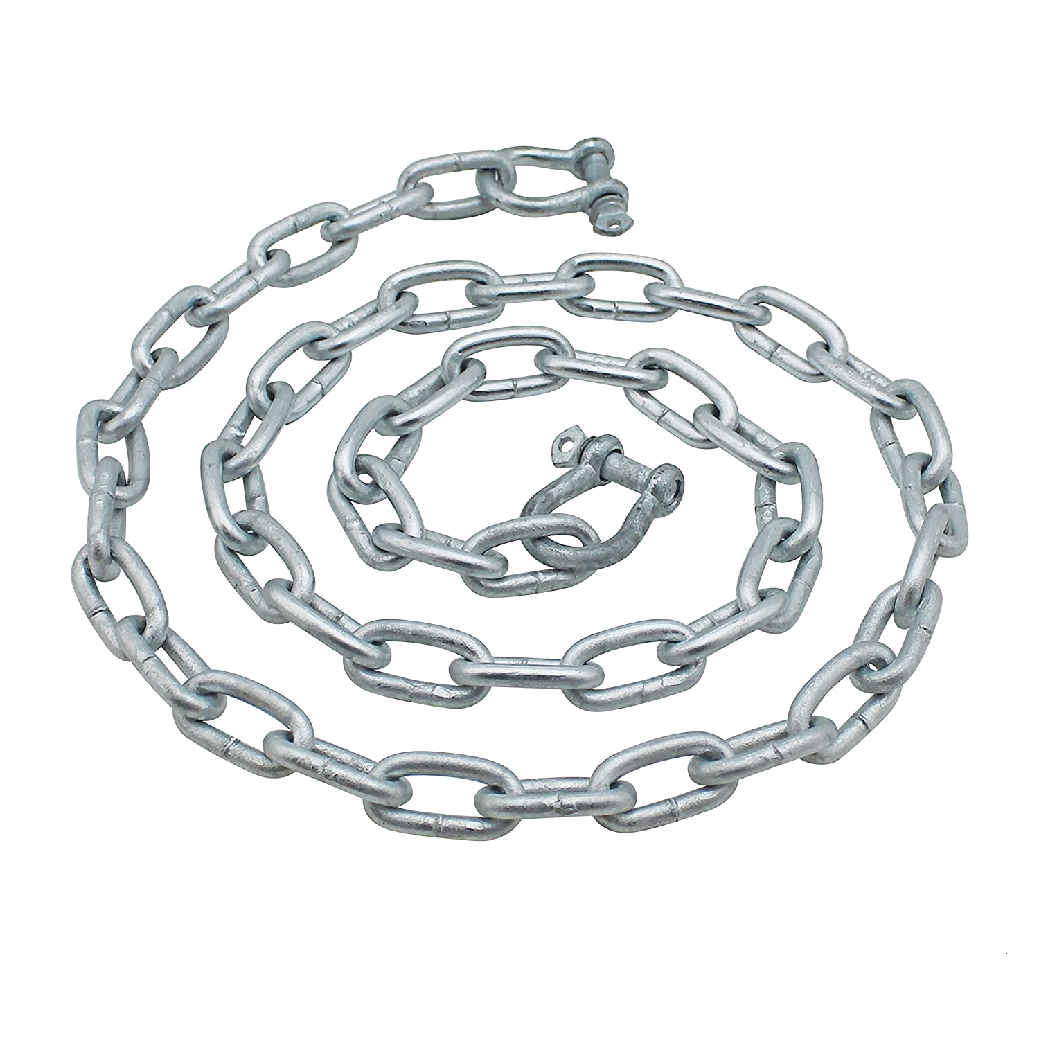 Extreme Max 3006.6572 BoatTector Anchor Chain 5//16 x 5 Galvanized Steel with 3//8 Shackles