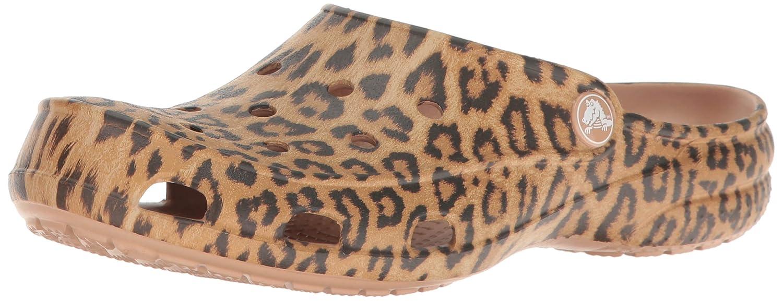 crocs Freesail Graphic Clog Women, Damen Clogs, Mehrfarbig (Leopard), 41/42 EU
