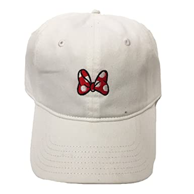 Image Unavailable. Image not available for. Colour  Disney Womens Minnie  Mouse Bow Strap Back Baseball Cap 4b347b2cc3b1