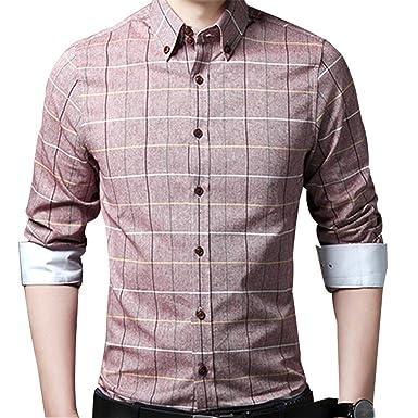 Engineeringed Men Shirt Slim Fit Large M-5XL Spring New Plaid Shirt Clothing red XXL