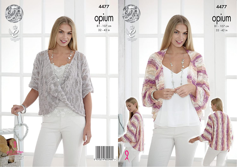 Amazon.com: King Cole Womens Opium Knitting Pattern Ladies Shrug ...