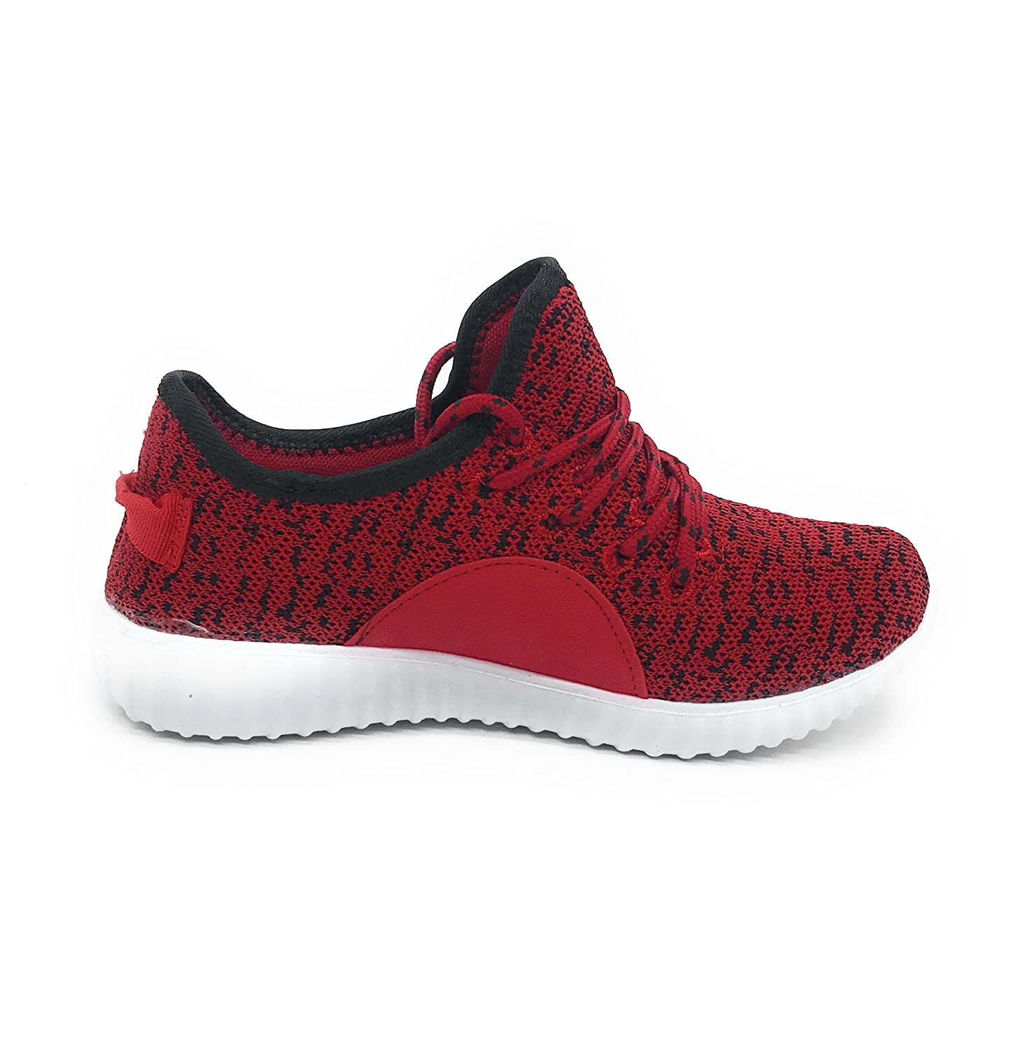 Blue Berry EASY21 Women Casual Fashion Sneakers Breathable Athletic Sports Light Weight Shoes B077GKTPJT 8 B(M) US|Red/Black