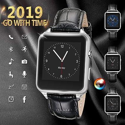 Montre Connectée pour Android, Bluetooth Smart Watch Etanche Montre Intelligente avec Caméra Montre Téléphone Sport
