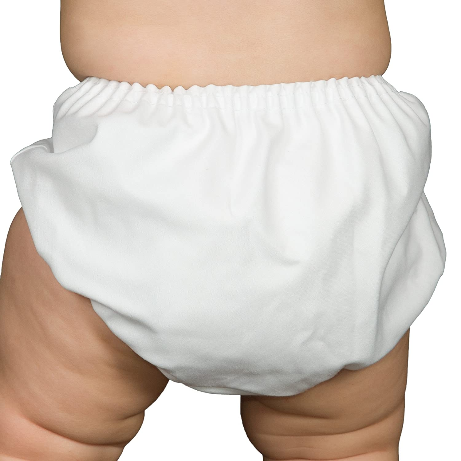 I.C. Collections Baby Boys White Batiste Diaper Cover Bloomers 000170-WH
