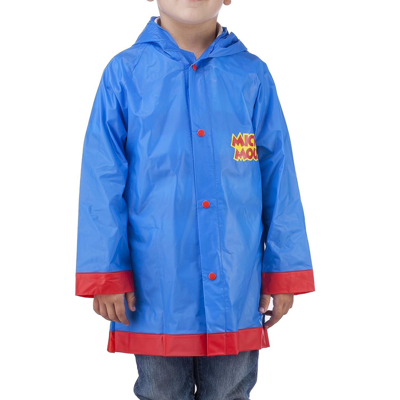 Disney Mickey Mouse Little Boys' Waterproof Outwear Hooded Rain Slicker - Toddler