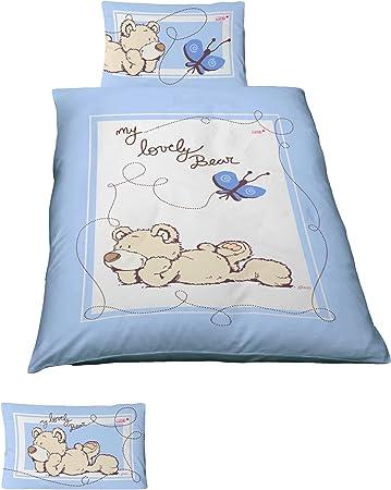 2 tlg Kinder Baby Bettwäsche 100x135 cm Tiere  Baumwolle B-Ware NEU