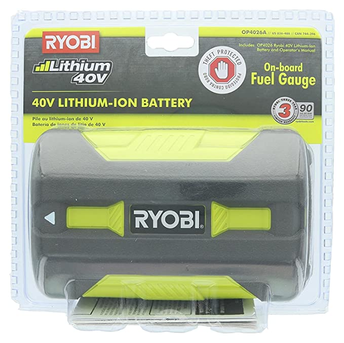 Ryobi OP4026A - Pila de Ion de Litio (40 V de Alta Capacidad, con ...