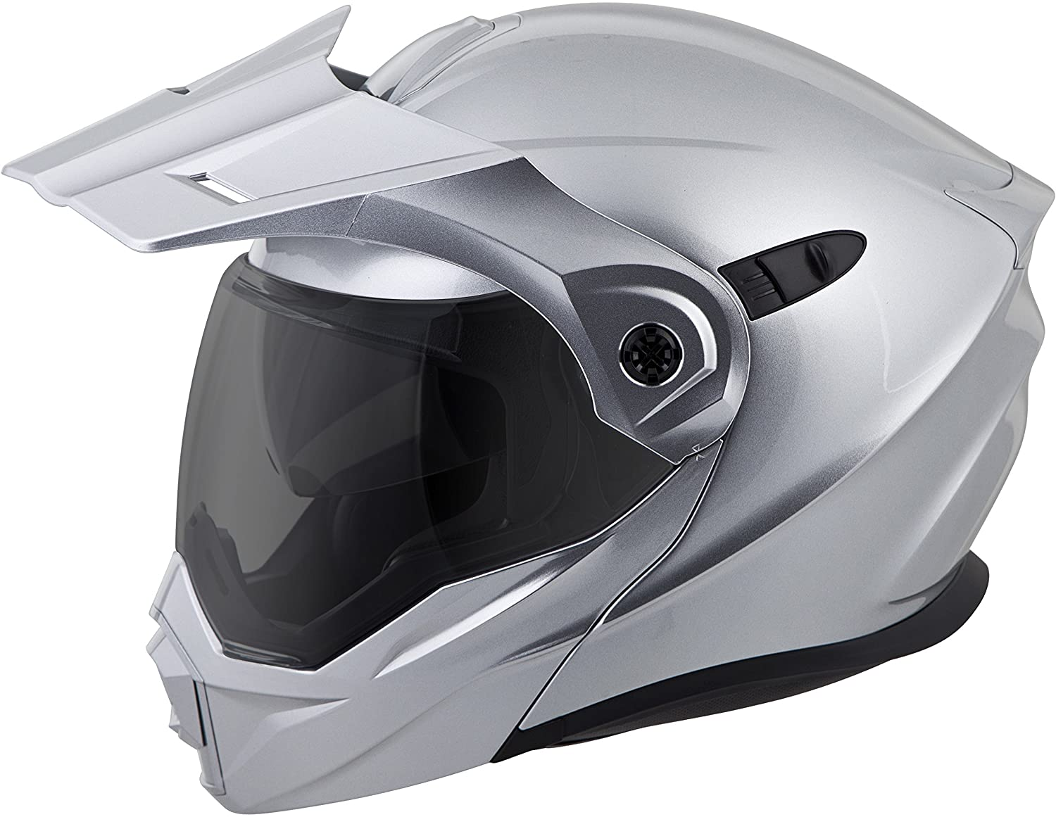Amazon.com: ScorpionEXO Unisex-Adult Modular/Flip Up Adventure Touring Motorcycle Helmet (Hyper Silver, Large) (EXO-AT950 Solid): Automotive