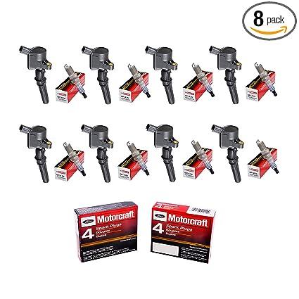 Set of 8 Aftermarket DG508 Ignition Coil & Motorcraft SP479 Platinum Spark Plug for Ford Crown