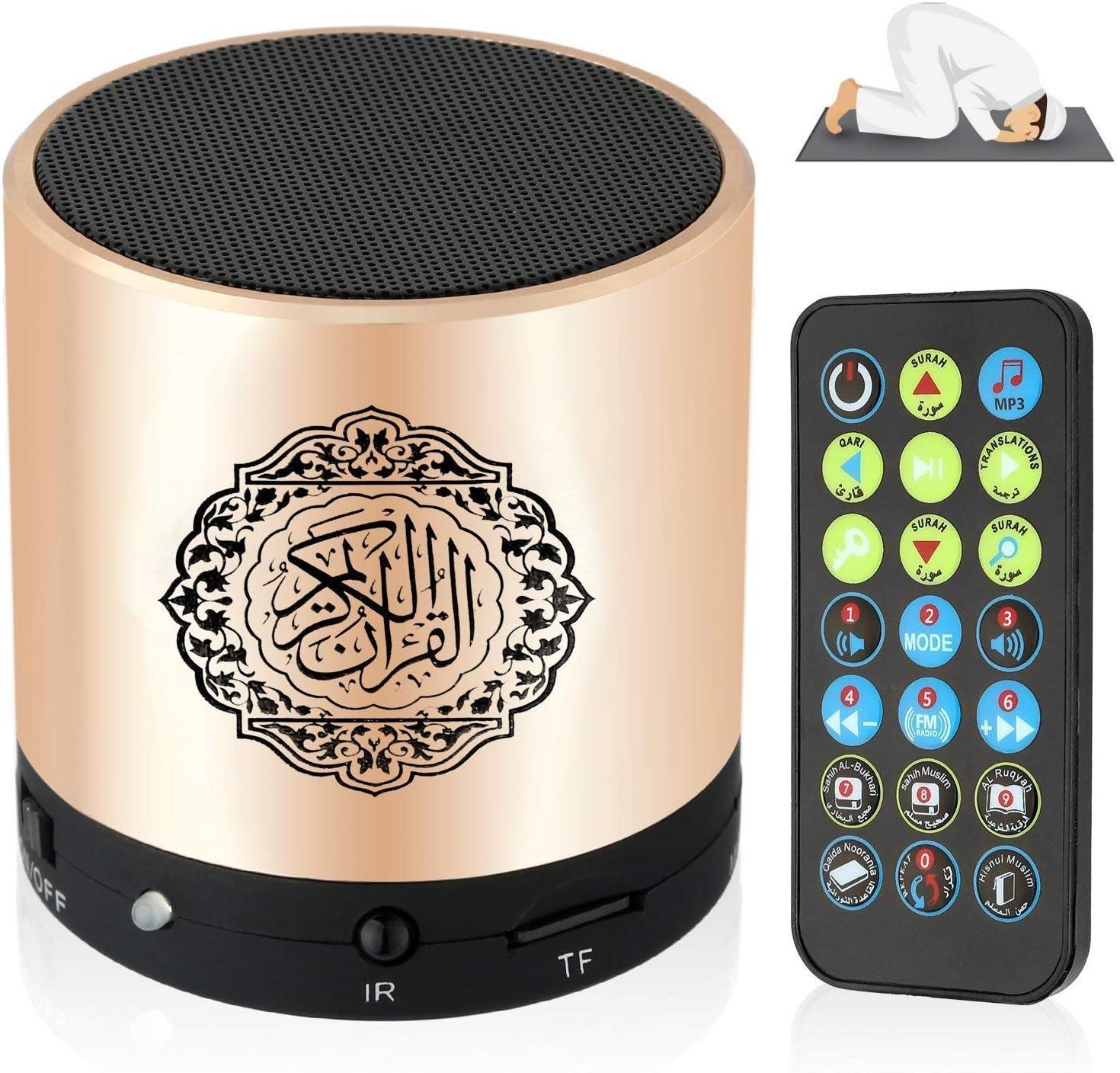 Siruiku Remote Control Quran Speaker Portable Arabic Islam Quran Muslim Mp3 Player 8GB TF FM Quran Translator USB Rechargeable
