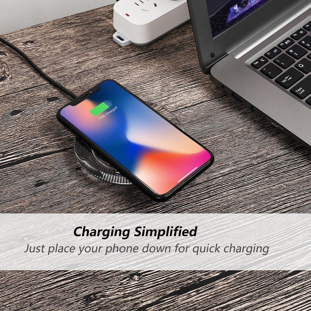 4.7inch- for Regular Size ANGELIOX 10W Wireless Charging Mat Base for iPhone Xs Max//X// 8 Plus,Galaxy Note 9//8//S9 Plus//S8+ Qi Wireless Charger with Qi Wireless Charging Case for iPhone 7//6s//6