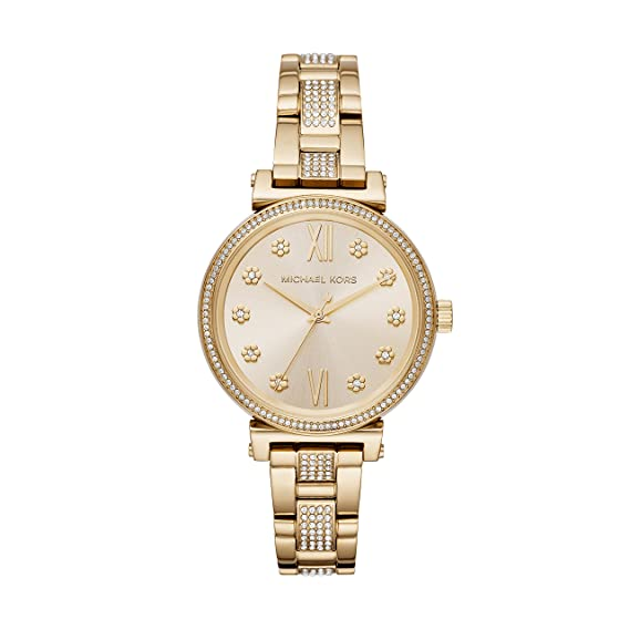 Amazon.com: Michael Kors Womens Sofie Quartz Stainless-Steel Strap, Gold, 14 Casual Watch (Model: MK3881: Michael Kors: Watches
