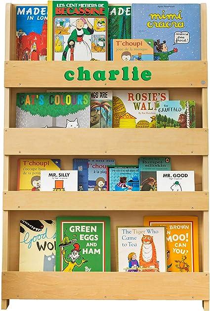 Bibliotheque Personnalisee Enfant 0 10 Ans Tidy Books En Bois Naturel Bibliotheque Murale Montessori Cadeau Enfant Personnalise 115 X 77 X 7 Cm Ecoresponsable Fait Main L Originale Depuis 2004 Amazon Fr Cuisine Maison