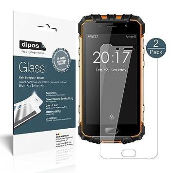 dipos I 2X Protector de Pantalla para Ulefone Armor 2 Vidrio Flexible Cristal Proteccion 9H: Amazon.es: Electrónica