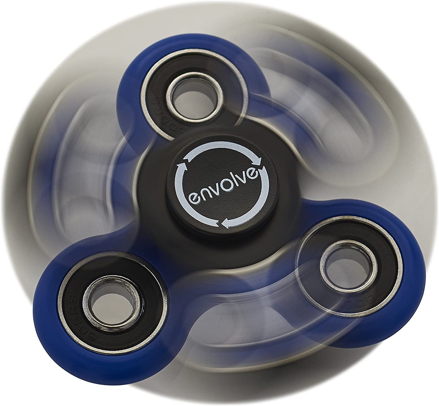 Envolve Dual/Triple in One Stack and Spin Set - for Focus, Calm Anxiety, and Break Nervous Habits - Long Spins 3-4 Minutes (Gift Packaging)