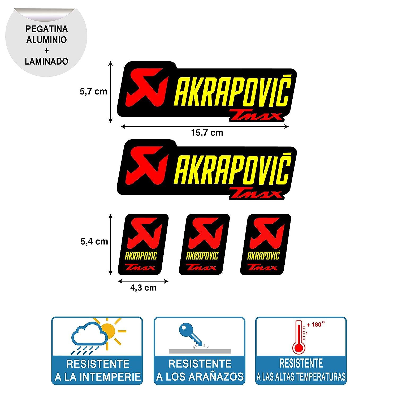 Sticker sticker adesivo Aufkleber Decals Autocollants Akrapovic Exhaust Yamaha TMAX Laminated Resistant High Temperature Ref 1