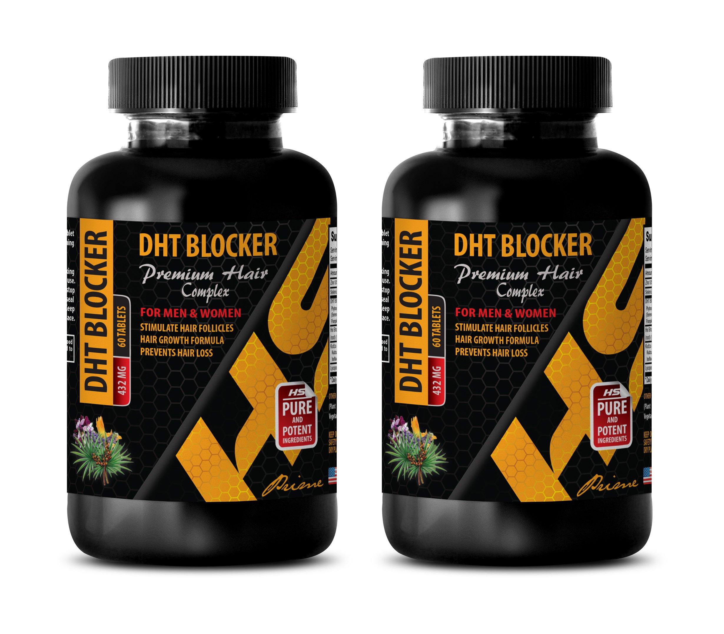hair growth supplement for women - DHT BLOCKER - PREMIUM HAIR COMPLEX - FOR MEN AND WOMEN - zinc pills for women - 2 Bottles 120 Tablets