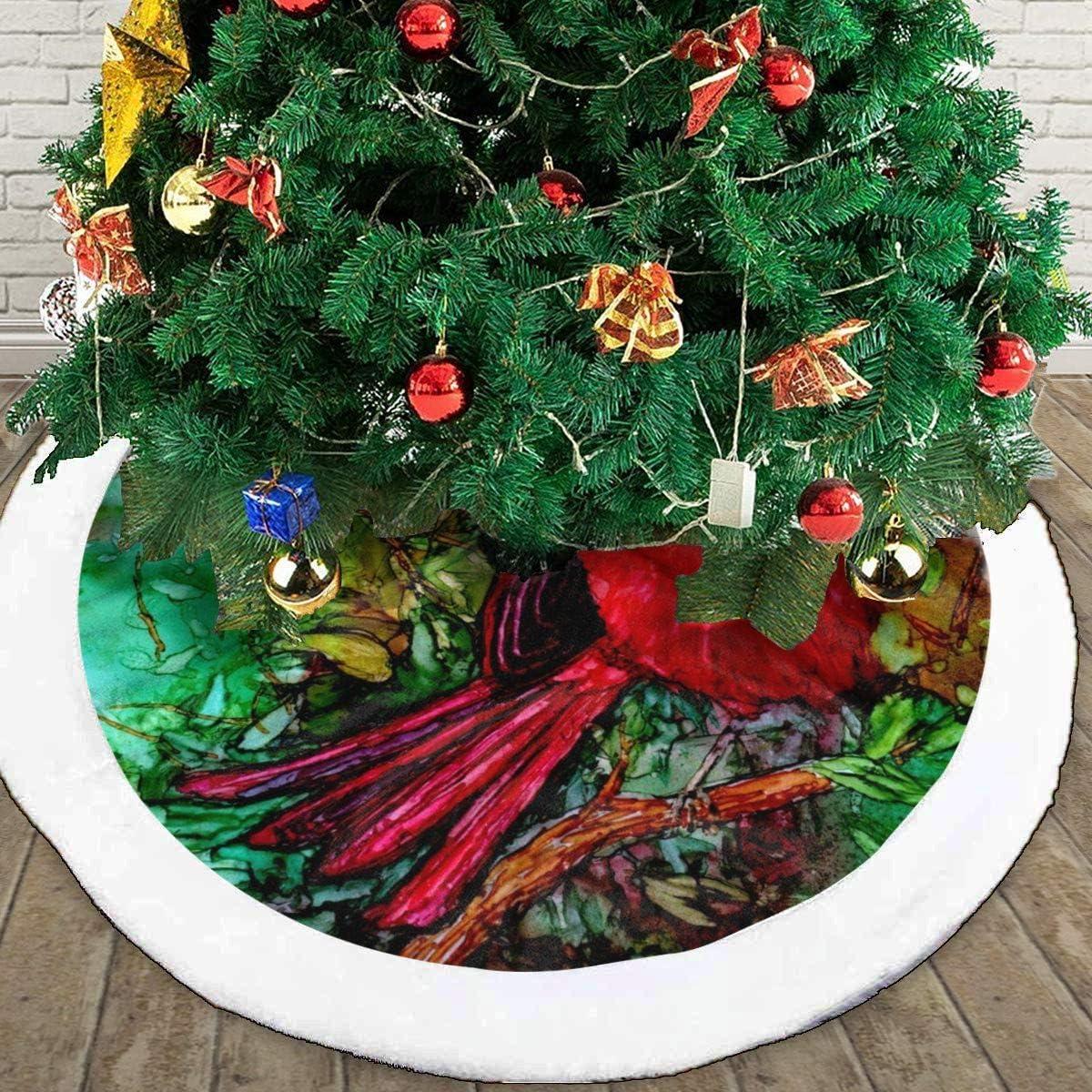 FENTINAYA Christmas Tree Skirt 30in Black Vinyl Record Custom Tree Skirt For Holiday Party Christmas Decorations