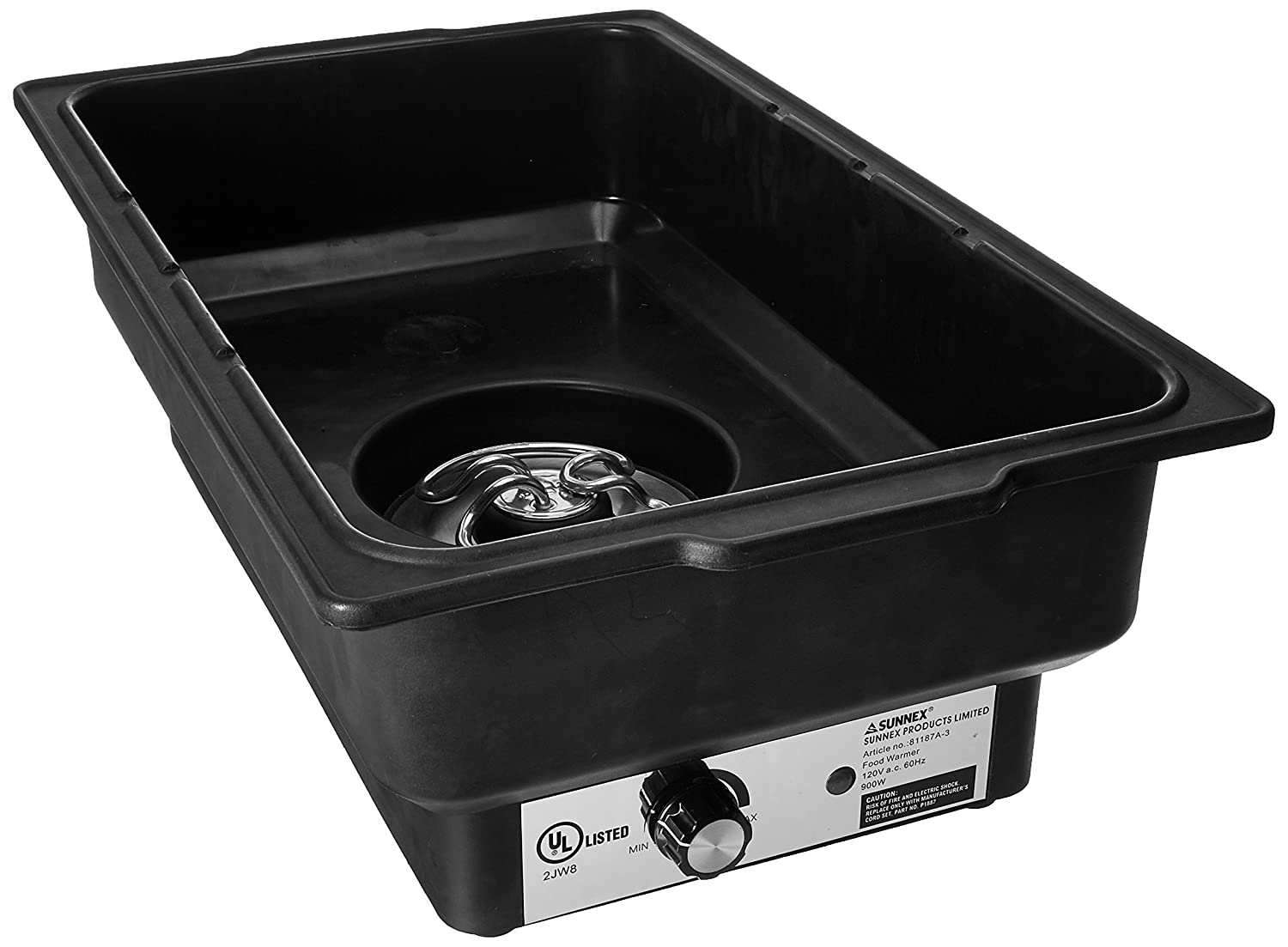 Winco EWP-2 Electric Chafer Water Pan, 900-Watt, Black Winco USA