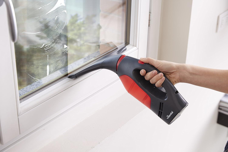 dep/ósito extra/íble color rojo y negro cuello flexible m/últiples usos Vileda Windomatic Power Aspirador de ventanas con doble potencia de aspiraci/ón