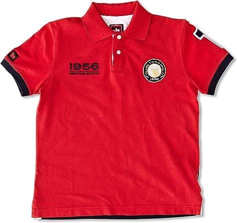 TORO Polo Escudo Número 1 Rojo/Azul Marino M: Amazon.es: Ropa y ...