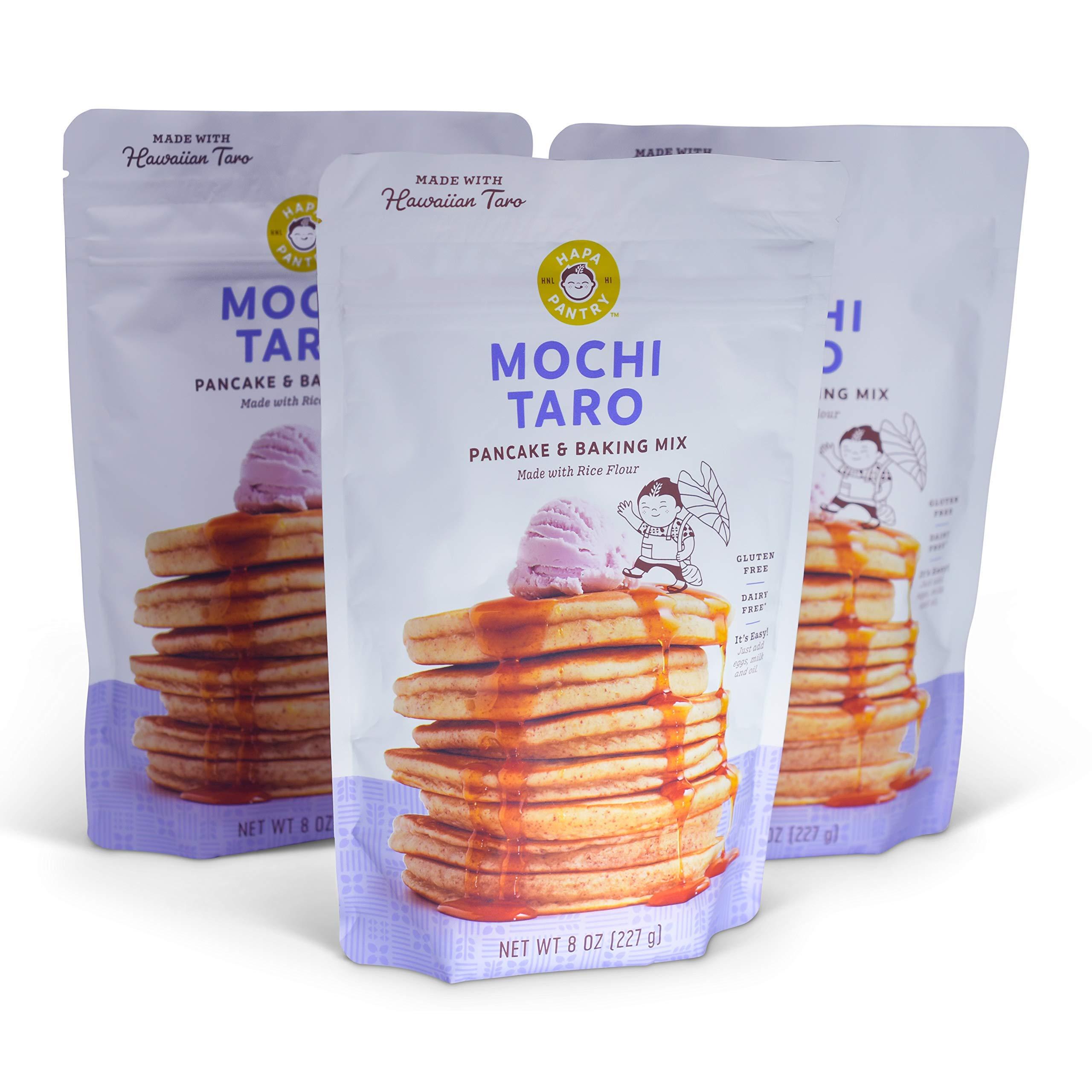 Gluten Free Pancake Waffle Mix (Taro, 3 Bags) by Hapa Pantry