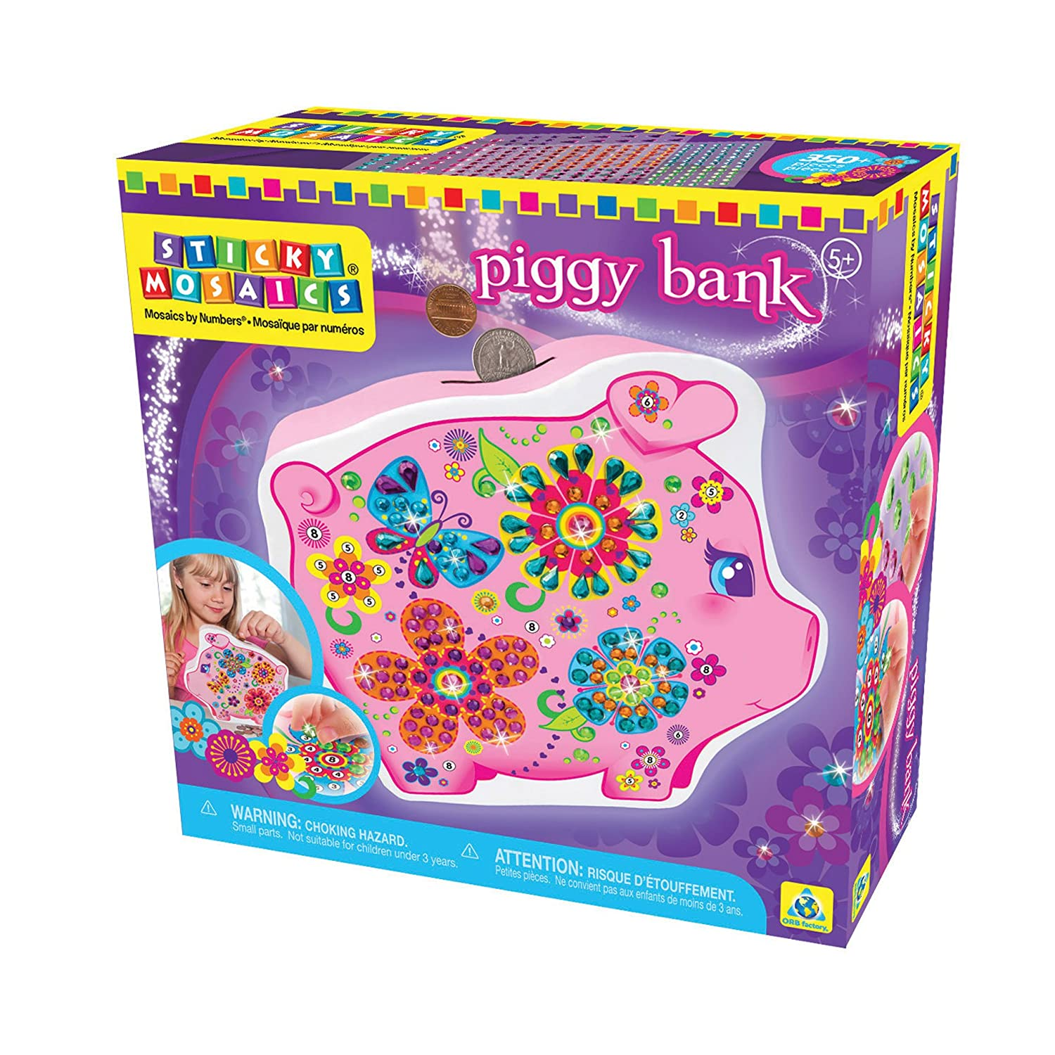 The Orb Factory Sticky Mosaics Butterfly Treasure Box 620060