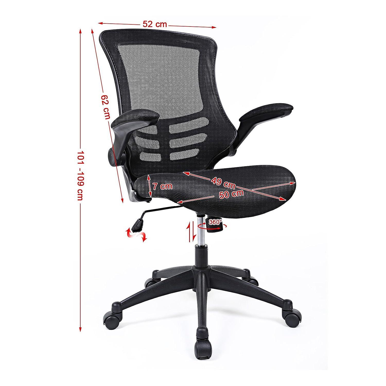 Songmics Mesh fice puter Chair Swivel Chair Black with