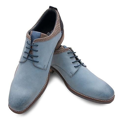 3a4c4cf3 Zerimar Zapato de Piel para Hombre con Diseño Elegante Zapatos con Cordones para  Hombre Color: Azul Talla: 44: Amazon.es: Zapatos y complementos