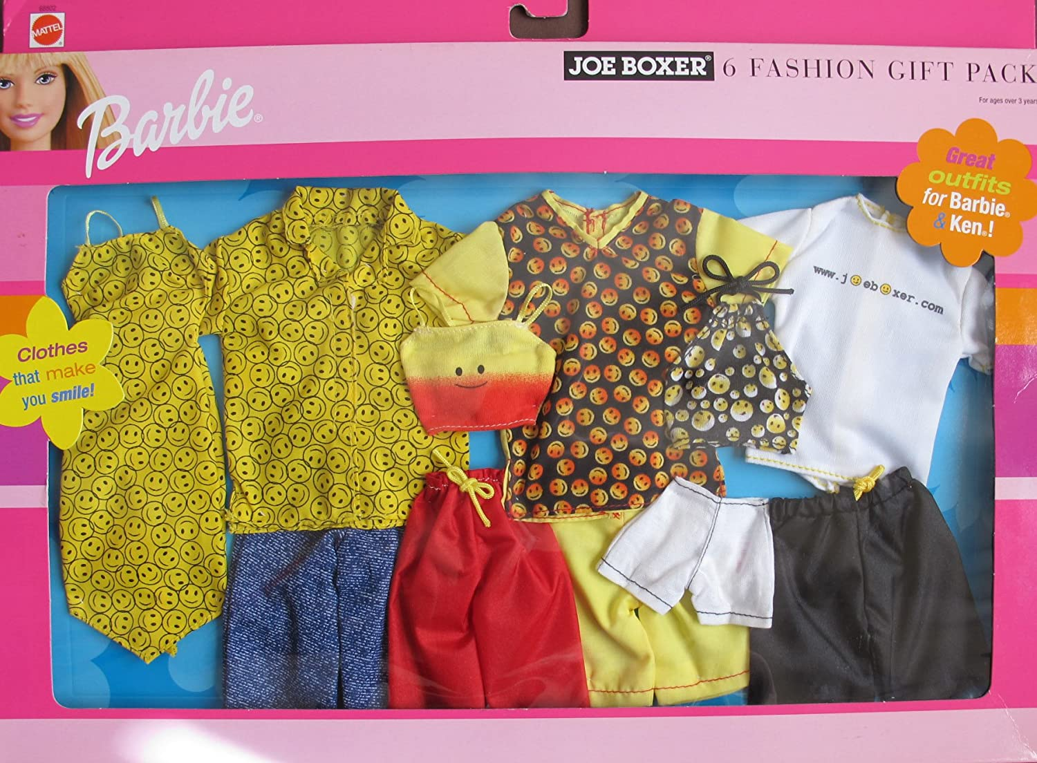 Amazon.es: Barbie JOE BOXER 6 FASHIONS GIFT PACK w CLOTHES For ...