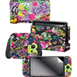 "Controller Gear Nintendo Switch Skin & Screen Protector Set, Officially Licensed By Nintendo - Splatoon 2 ""Stick Em' Up"" - Ni"