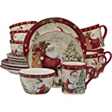Certified International 89127 Holiday Wishes 16 Piece Dinnerware Set, Set of 4, One Size, Mulicolored