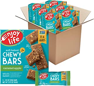 product image for Enjoy Life Chewy Bars, Caramel Apple Nut Free Bars, Soy Free, Dairy Free, Non GMO, Gluten Free, 6 Boxes (30 Total Bars)