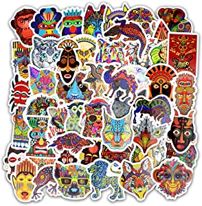 Honch Vintage Tribal Totem 50 Pcs Vinyl Stickers Pack Retro Decals for Laptop Ipad Car Luggage Water Bottle Helmet