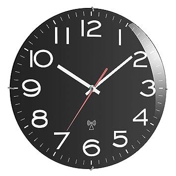 TFA 60.3509 - Reloj de pared radio control, color negro: Amazon.es: Hogar