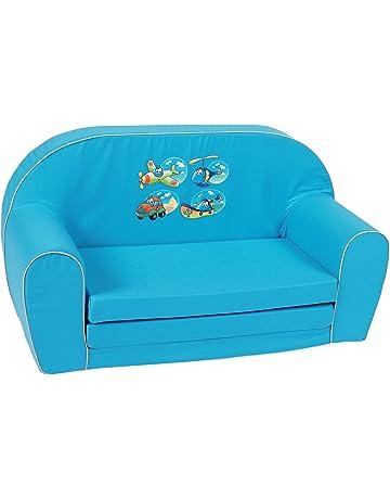Knorr-baby 430185 - Sofá infantil con diseño de vehículos, color azul