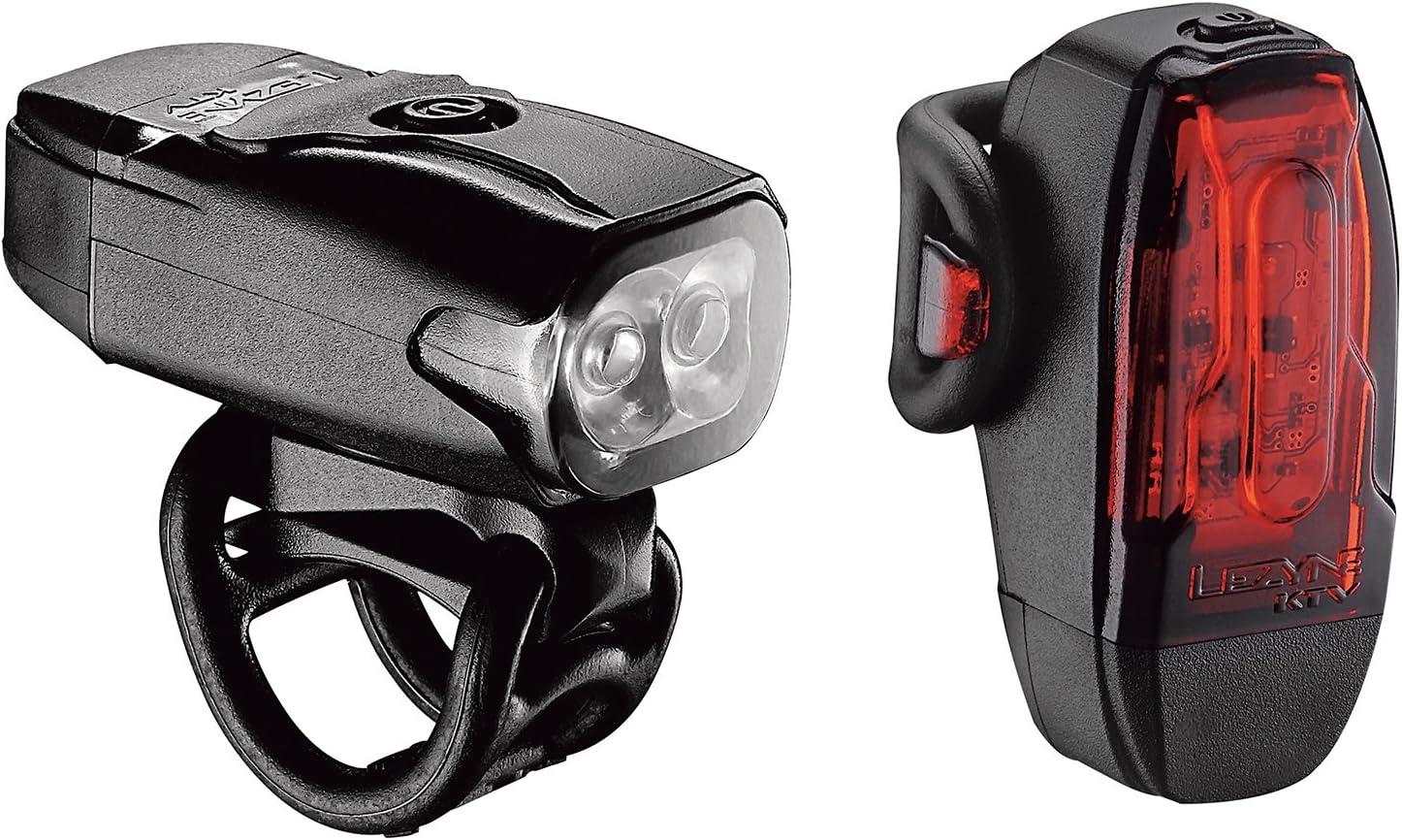 LEZYNE MICRO DRIVE 500XL BLACK BICYCLE HEADLIGHT AND TAILLING SET Bike Light Set