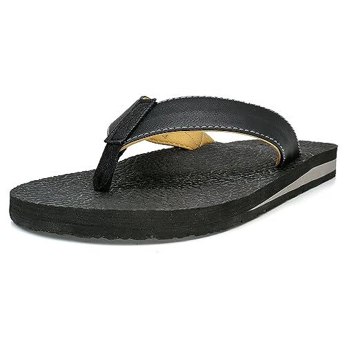 baf3e60cd28e KuaiLu Yoga Mat Flip Flop with Arch Support for Men Rubber Sole Cushioned  Foam Slip On Thong Sandals  Amazon.ca  Shoes   Handbags