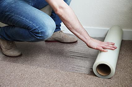 Kenley Carpet Protector Self Adhesive Plastic Protection Film 36