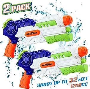 lenbest Pistola de Agua, Pistolas de Agua Grandes, 2 Pack Pistolas ...