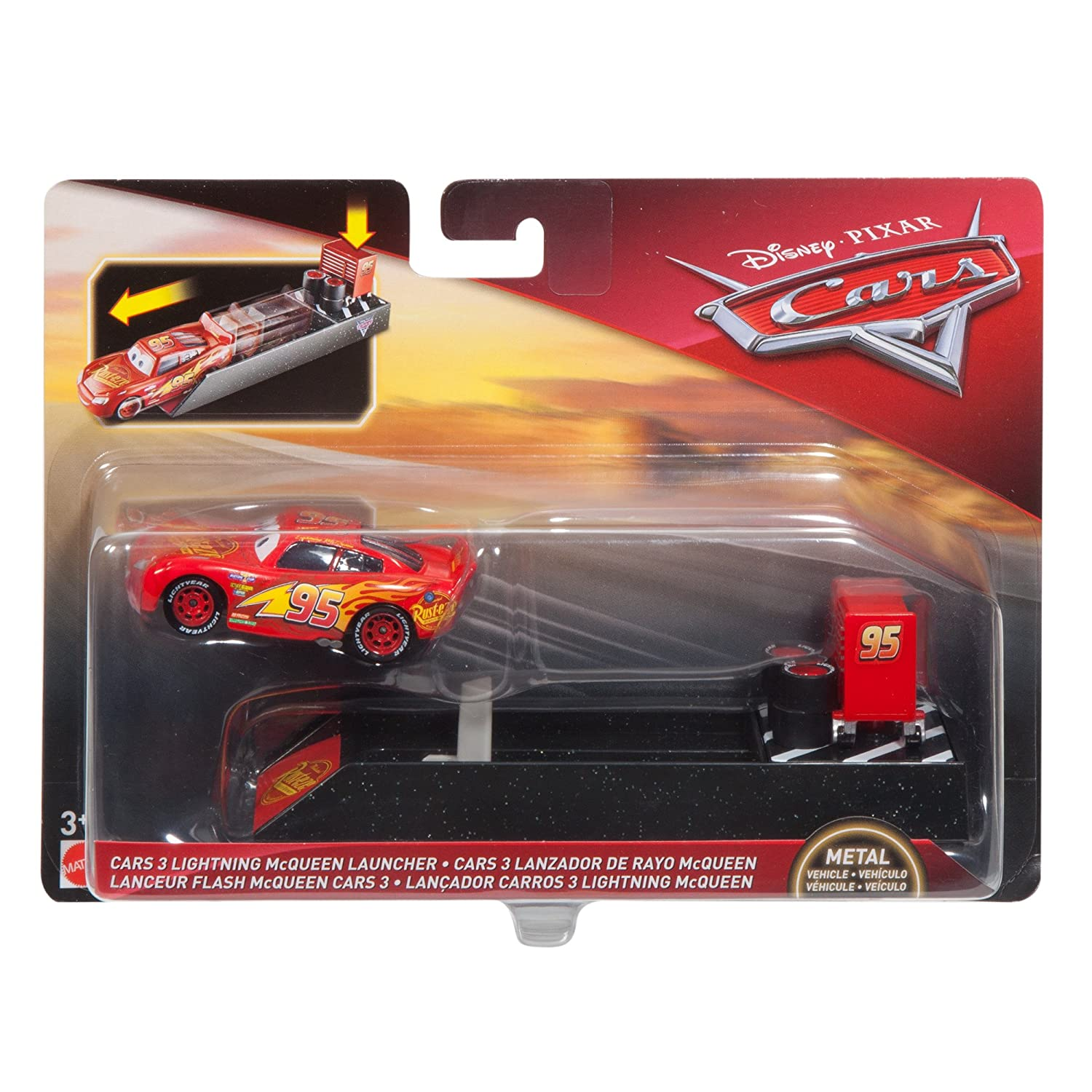 Amazon Com Disney Cars Pixar Cars 3 Lightning Mcqueen Launcher