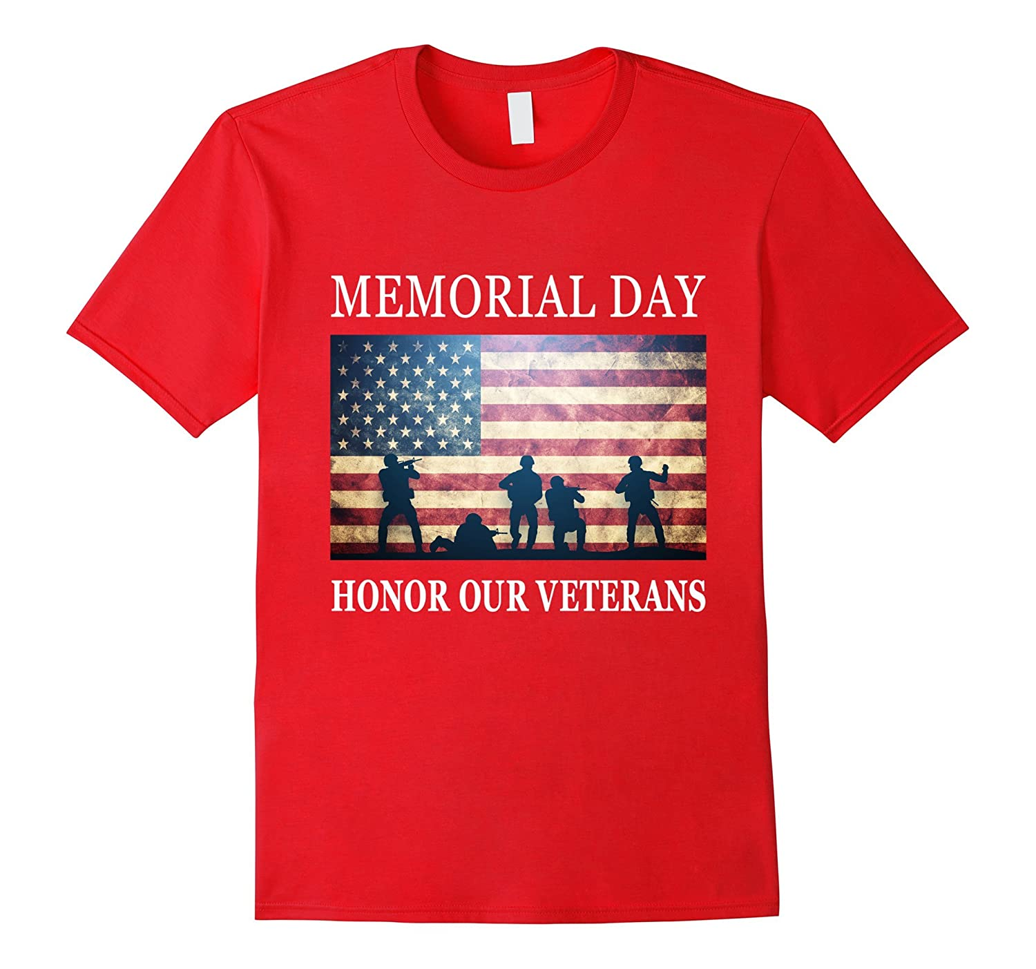 Honor Our Veterans - Soldiers Military Memorial Day T-Shirt-Art