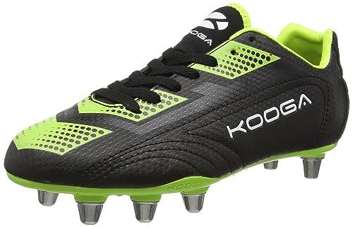 Kooga Men Blitz 2 Rugby Boots Black BlackLime 6 UK
