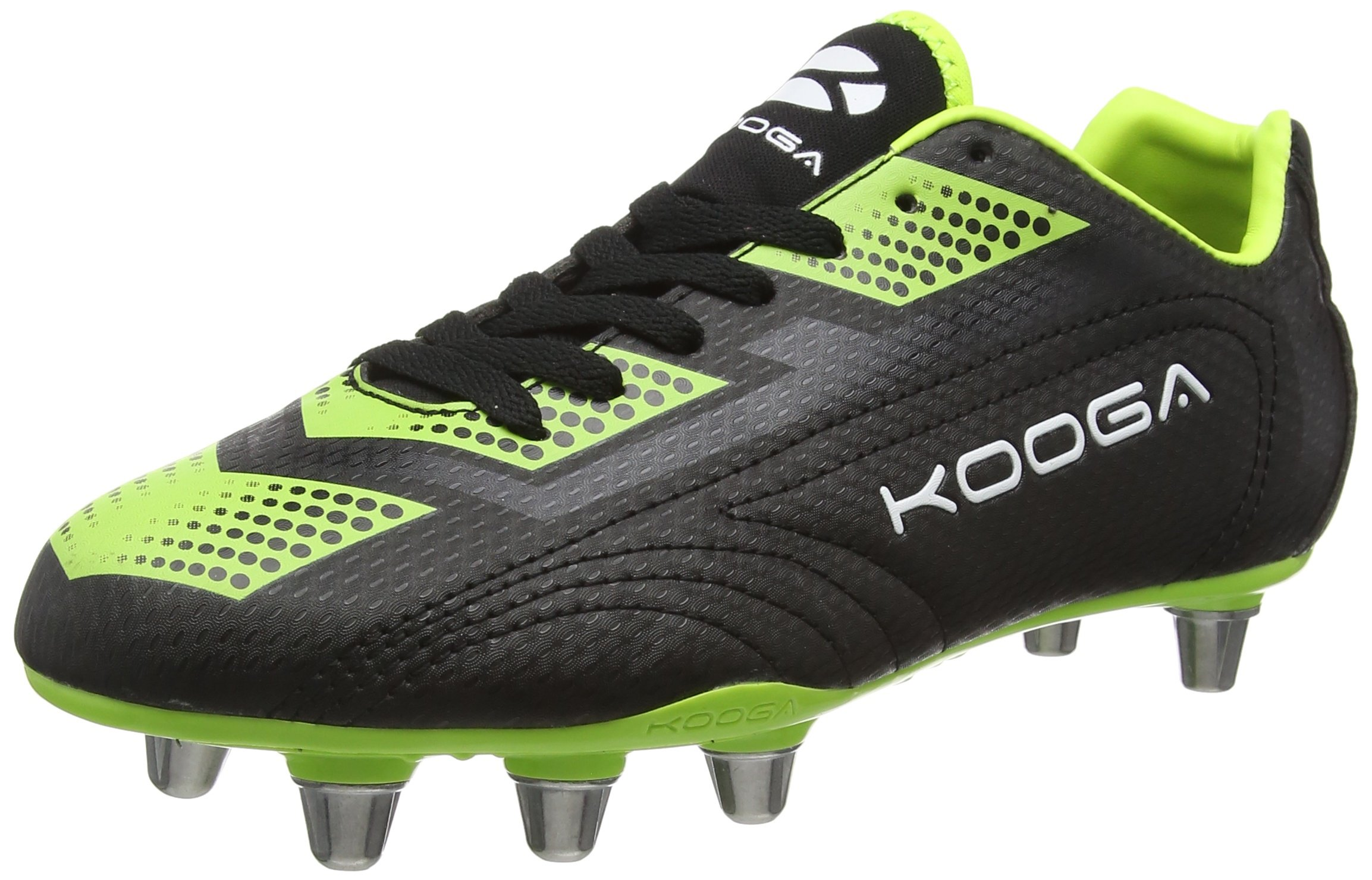 KooGa Blitz 2 Rugby Boots, Black/Red, US11