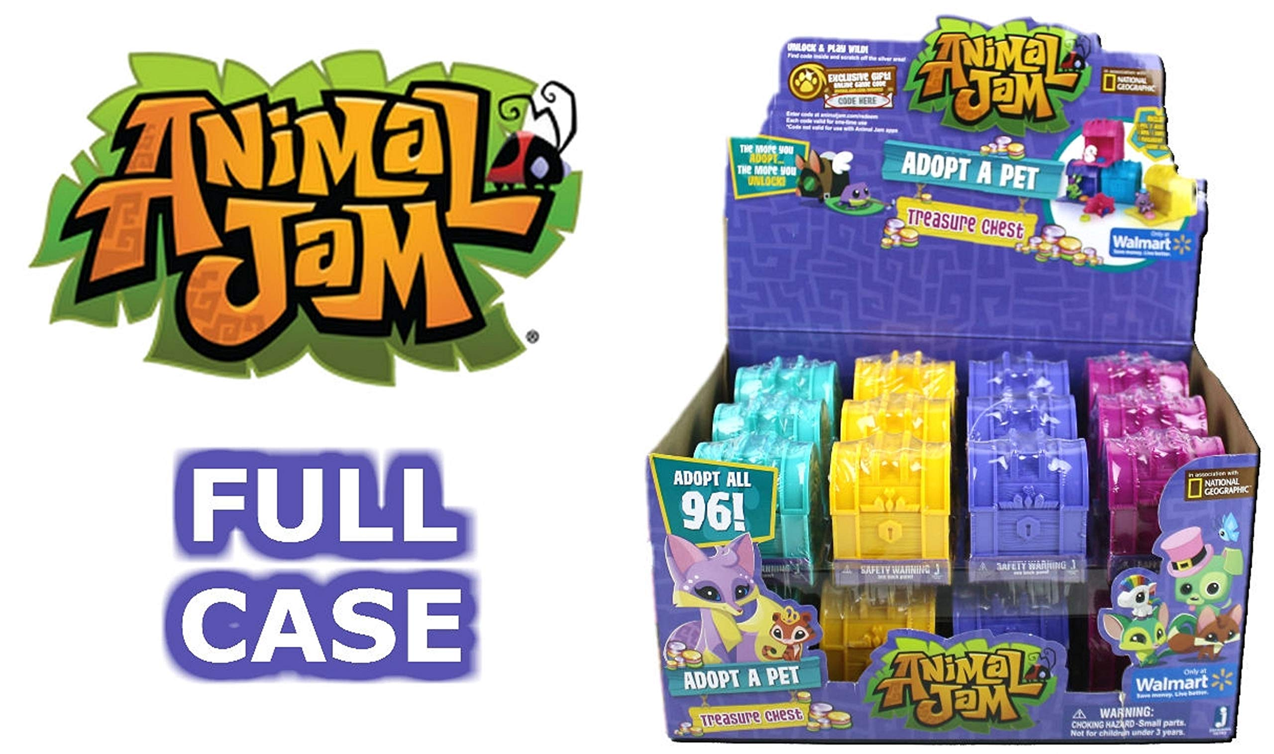 Animal Jam Adopt a Pet Treasure Chest Sealed Mystery Box of 24 Chests Game Code by Animal Jam (Image #1)